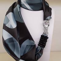 バルサンティ イタリア製 スカーフネックレス (ラインストーンフック)ピカソ