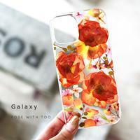 【リング不可】Galaxy /   押し花スマホケース  210901_2