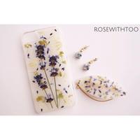 押し花ケース・アクセサリー3set(lavender)