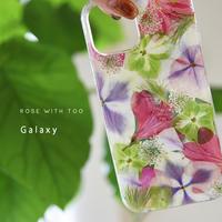Galaxy /   押し花スマホケース  210714_4