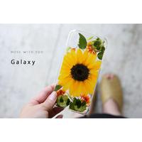 【リング不可】Galaxy /   押し花スマホケース  200617_6