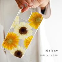 【リング不可】Galaxy /   押し花スマホケース  211006_2
