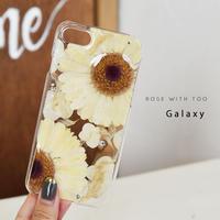 【リング不可】Galaxy /   押し花スマホケース  200916_2