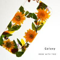 【リング不可】Galaxy /   押し花スマホケース  210721_4