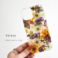 Galaxy /   押し花スマホケース  2106_4