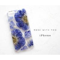 iPhone /  押し花ケース20190724_1スカビシンプル