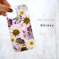 Galaxy /   押し花スマホケース  201209_2