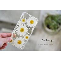 【リング不可】Galaxy /   押し花スマホケース  200603_4