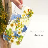 【リング不可】Galaxy /   押し花スマホケース  210210_2