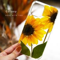 【リング不可】Galaxy /   押し花スマホケース  210707_2
