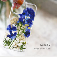【リング不可】Galaxy /   押し花スマホケース 210519_2