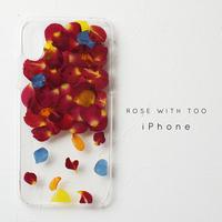 【再販】iPhone / 押し花ケース0221_1 rose