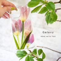 【再販】Galaxy /   押し花スマホケース  201209_4