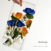 【リング不可】Galaxy /   押し花スマホケース  210825_2