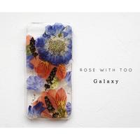 Galaxy / 押し花ケース20190724_6スカビアルストロメリア