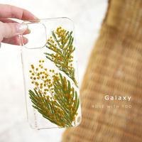 【リング不可】Galaxy /   押し花スマホケース  210210_4