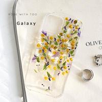 【リング不可】Galaxy /   押し花スマホケース  210210_6