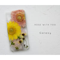 【リング不可】Galaxy /   押し花スマホケース 20200129_6