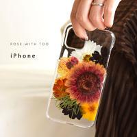 【リング不可】iPhone / 押し花ケース 201007_7