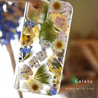 Galaxy /   押し花スマホケース  210630_2