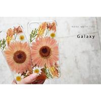 【リング不可】Galaxy /   押し花スマホケース  200527_4