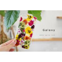 【リング不可】Galaxy /   押し花スマホケース  200729_2