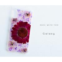 【リング不可】Galaxy /   押し花スマホケース  200527_2