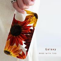 【リング不可】Galaxy /   押し花スマホケース  210804_4