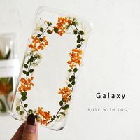 【再販】Galaxy /   押し花スマホケース  201021_4
