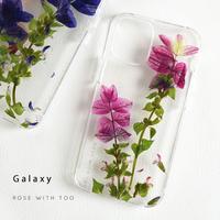 Galaxy /   押し花スマホケース  210120_8