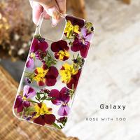 Galaxy /   押し花スマホケース  210428_2