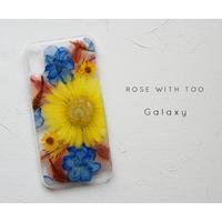 【リング不可】Galaxy /   押し花スマホケース 20200129_10
