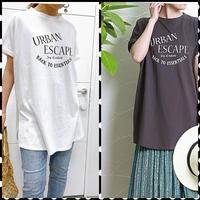 Rosiee  オーバーサイズロゴTシャツ