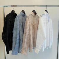 TRANOI チェックシアーシャツ