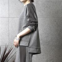 袖ケーブル編みプルオーバー