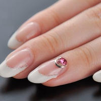 Nailアクセサリー ワンポイントビジュー pink Ssize