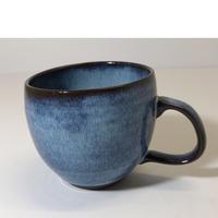 ブルー釉 樽マグ