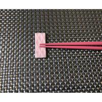 切子 長角箸置き ピンク