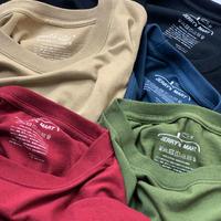 無地 100%コットンTシャツ クルーネック  5.6onz (Size:90, 110, 130, 150) 7カラー
