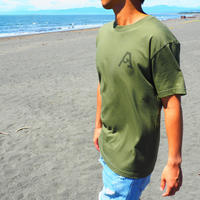 """SURFAHOLIC Tシャツ """"Vertical Line"""" Color:シティグリーン"""