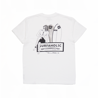 """SURFAHOLIC Tシャツ """"Just Relax"""" Color:ブラック"""