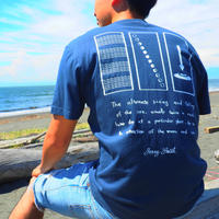 """JERRY SMITH Tシャツ """"TIDE NOON"""" スレート"""