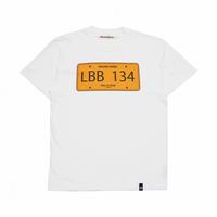 "BeachBum Tシャツ ""LicensePlate"" Color:ホワイト"
