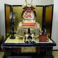 13号 京極鎧 赤段 黒塗り龍虎畳台