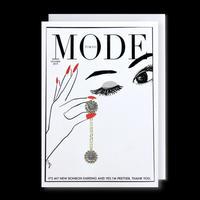 "✦Yurika's Drawing✦ ""MODE magazine [OCTOBER 2019]"" GREETING CARD[L]"
