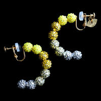 JULICA EARRINGS | BONBON HOOP_J'ADORE CITRON!