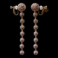 JULICA EARRINGS | BONBONSOIR_NUDE ROSE
