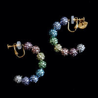 JULICA EARRINGS | BONBON HOOP_RAINBONBON