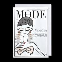 "✦Yurika's Drawing✦ ""MODE magazine [APRIL 2020]"" GREETING CARD[L]"