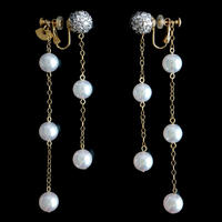 JULICA EARRINGS | LOVE YOU TO THE PEARL AND BACK 1[WHITE]